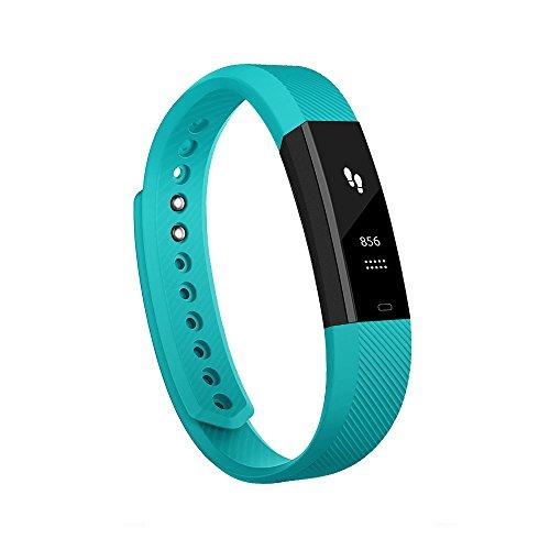 Antimi Fitness Armband, fitness tracker smart bracelet Smartwatch für Android Smartphone und iPhone, Schrittzähler, Push-Message und Anrufer - ID Benachrichtigung (Green)