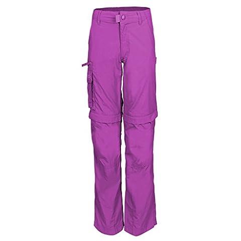 Trollkids Quick-Dry Zip-Off Hose Oppland Slim Fit, Beere, Größe 158
