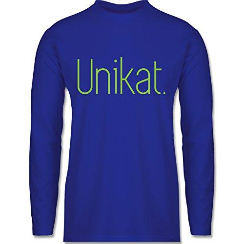 Shirtracer Statement Shirts - Unikat - Herren Langarmshirt Royalblau