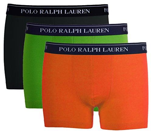 Ralph Lauren Polo 3er Pack Herren Boxer Shorts (L, Schwarz/Grün/Orange)