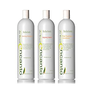 ENCANTO Do Brasil Brazilian Keratin Treatment Hair Straightening BLOW DRY BLOWOUT HAIR KIT 3x100ml