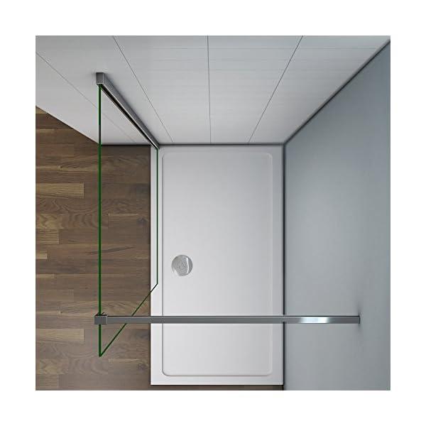 paroi de douche 200cm verre anticalcaire cabine de douche l 39 italienne avec barre de fixation. Black Bedroom Furniture Sets. Home Design Ideas
