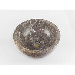 Rococo Lavabo de Piedra, Color grisáceo Pulido ambas Caras de 40cm