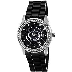 Stella Maris - STM15Z2 - Montre Femme - Quartz Analogique - Cadran Noir - Bracelet Céramique Noir