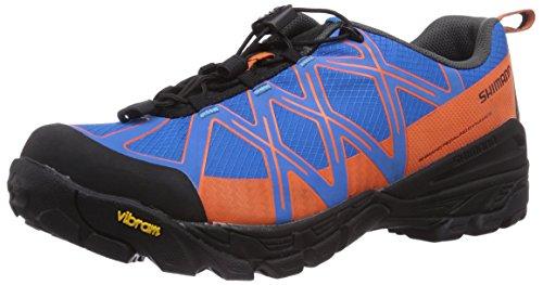 Shimano  SH-MT54, Chaussures de VTT adulte mixte Bleu - Blau (Blue/Orange)