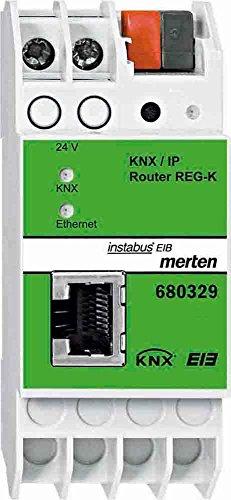 Preisvergleich Produktbild Merten 680329 KNX /IP-Router REG-K 2TE ca.36mm lichtgrau