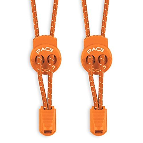 Schnürsenkel mit Schnellverschluss - Schnellschnürsystem für einzigartigen Komfort, perfekten Sitz und starken Halt - 1 JAHR 100% ZUFRIEDENHEITSGARANTIE (Orange) (Schuh-schnürsenkel-lichter)