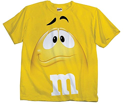 mm-candy-gelb-silly-character-face-erwachsene-t-shirt