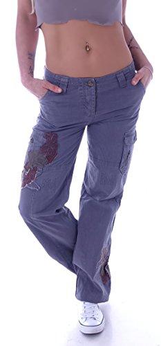 Damen Cargohose Stoffhose Cargo Hose Hüfthose Jeans XS 34 S 36 M 38 L 40 XL 42 XXL 44 (XXL 44, Khaki) (L 40, Braun) (Grau, S 36)