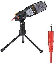 Rixow Micrófono Condensador profesional para ordenador/portátil, negro, Soporte Trípode sombresa