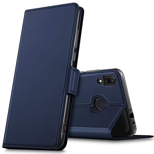 GEEMAI Diseño para Xiaomi Redmi Note 7 funda, Multi-ángulo a Prueba de Golpes y Polvo a Prueba de Silicona con Soporte Plegable apto para Xiaomi Redmi Note 7 / Redmi note 7 pro Smartphone. (Azul)