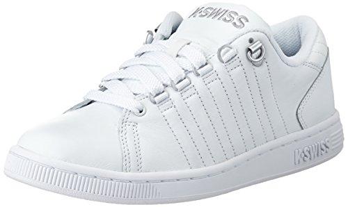 K-Swiss - Lozan Iii, Sneaker Basse, Donna, Bianco (WHITE/WHITE/SILVER), 36 EU