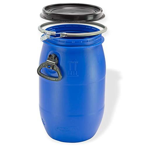 Maischefass 30 Liter in Blau mit Deckel & Griffen als Regentonne oder Futtertonne