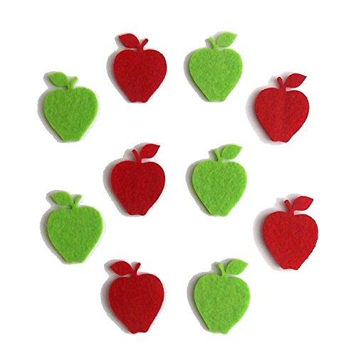 Bastelfilz Figuren Set – Apfel klein. – Filz, Textilfilz, Streudeko