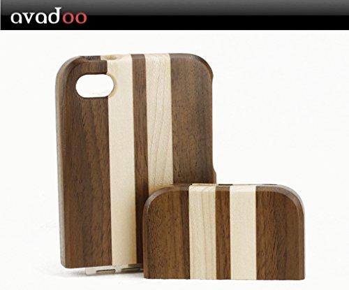 avadoo® iPhone 4/4S Bambus-/Ahornholz (dunkel) Case - Holz bumper Taschen Case Luxus Hülle Series von avadoo® für das iPhone 4/4S Bambus-/Ahornholz Bambus-/Ahornholz (dunkel)