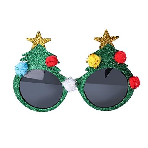 Kalttoy Glitzer Weihnachtsbaum Sonnenbrille Fancy Kleid Party Xmas Decor Geschenk