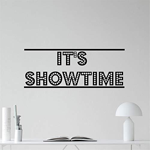 wandaufkleber 3d Wandaufkleber Schlafzimmer Es ist Showtime Cinema Home Theater Movie Sticker Dekor Zitate für Arbeitszimmer -