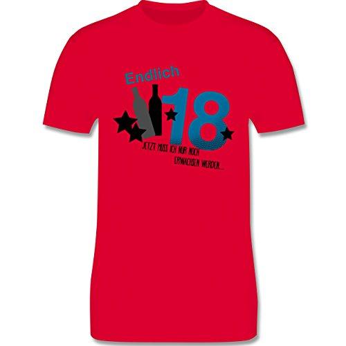 Geburtstag - Endlich 18_Blau - Herren Premium T-Shirt Rot