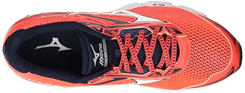 Mizuno Wave Legend, Corsa Gara homme Rouge - Rosso (Fierycoral/White/Dressblues)