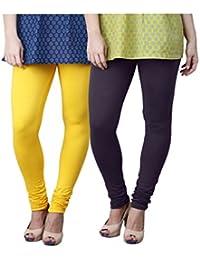 Limeberry Women's Cotton Legging Pack of 2 (LB-2PCK-LEGG-CMB-7_Multicolor)