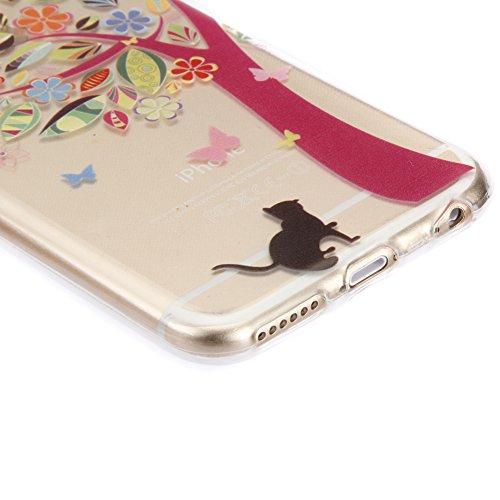SainCat Coque Housse iPhone 5c, Coque Silicone Etui Housse, iPhone 5c Silicone Case Soft Gel Cover Anti-Scratch Transparent Case TPU Cover,Fonction Support Protection Complète Magnétique Shell, Couvri petit chat noir