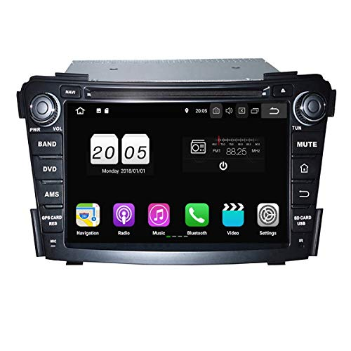 S Autoradio für Hyundai I40 2011 2012 2013 2014,DAB+ Radio kapazitiver Touchscreen mit Quad Core 1.5G CPU 16G Flash und 2G DDR3 RAM GPS Navi Radio DVD Player 3G/WiFi Aux Input ()