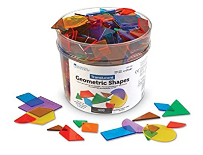Learning Resources Bucket of Translucent Shapes by Learning Resources