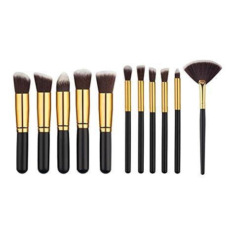 Make-up Pinsel, FEITONG 11PCS Mini Kosmetische Augenbraue Augenschminke Bürsten Verfassungs