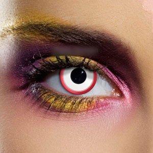 Crazy Saw White Contact Lenses
