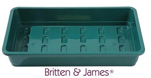 Britten & James Paquet de 3 Plateaux de semences de qualité Professionnelle sans Trous pour Pots, Gravier ou Inserts de cavité cellulaire. De Plateaux Robustes.
