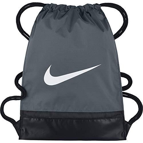 Nike brasilia gym sack, sacca per la palestra uomo, grigio (flint grey/black), 48.5 x 38 x 5 cm