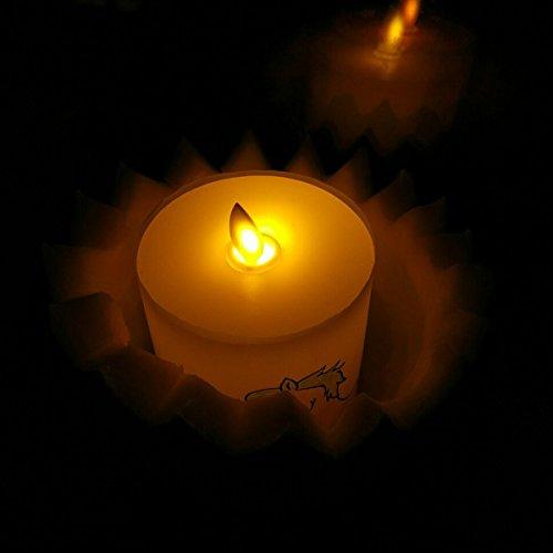 smtyle velas led funciona con pilas Llama Vela Pilar de cera con temporizador-1