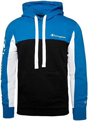 Champion Men Hoodie Hooded Sweatshirt 213408, Größe:XL, Farbe:Blau (sev)/Schwarz (nbk)/weiß (Wht)