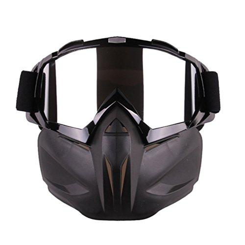 Yuanu Unisexo Off-Road Motocicleta Gafas Máscara