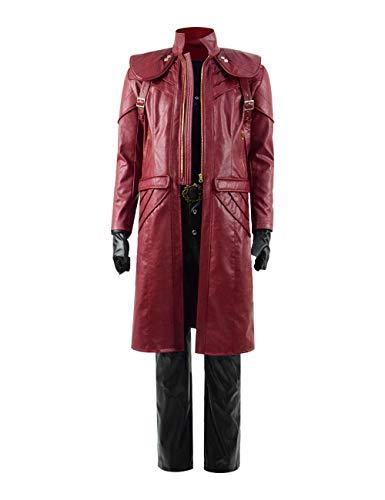 Zhangjianwangluokeji Dante Kostüm 3D Print Hoodies Zipper Jacket Adult Cosplay (Stil 3, ()