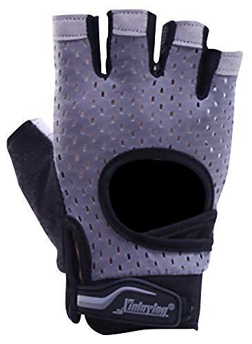 5ALL Half-Finger Handschuhe Halbe Fingerhandschuhe Männer und Frauen Ausrüstung Training Sport Handschuhe Fitness Yoga Slip atmungsaktive Hand Alpinestars Slip
