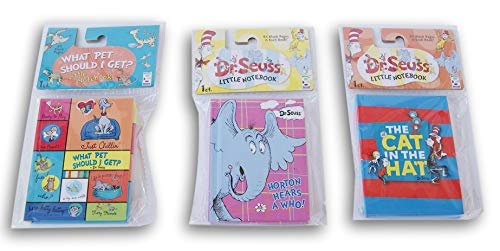Dr. Seuss Mini-Notizbuch Set - Katze im Hut, Horton Hears a Who, and What Pet should I get ?
