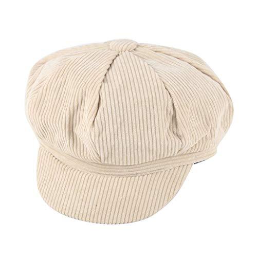 Higlles Kinder Beret Visor Hut Winter Mütze Cord Newsboy Junge/Mädchen Maler Hüte Plaid Achteckige Kappe Schirmmütze Baskenmütze