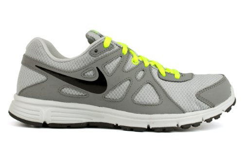 Nike Revolution 2 Gs Calzatura Gris / Negro / Verde (Wolf Grey / Black-Cool Grey-Volt)