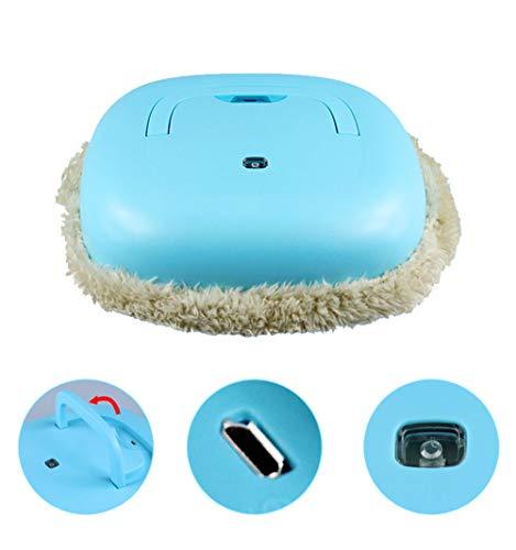 Elektrischer Mopp, Smart Sweep Wischroboter, Kabellose, Schlanke, Automatische Reinigung - USB Universal-Ladekabel,Blue