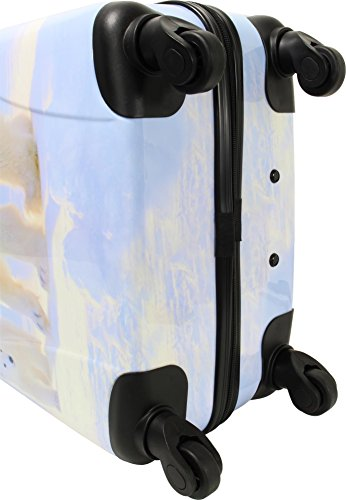 ABS Hartschalen Koffer mit Teleskopgriff und Zahlenschloss Ice Bear