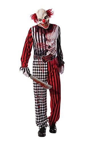 Rubie's, Horrorclown-Kostüm für Erwachsene, offizielles Halloween-Lizenzprodukt, - Kostüme Horrorclown