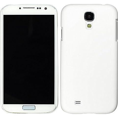PhoneNatic Case für Samsung Galaxy S4 Hülle weiß gummiert Hard-case für Galaxy S4 + 2