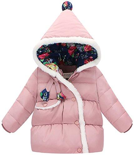 ZOEREA Piumino bimba Giacca bambina invernale Cappotto per bimbi Maglia con cappuccio
