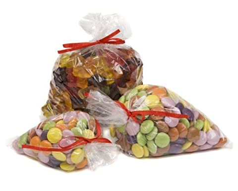 100 Clear Polythene Plastic Sweet / Party / Gift / Food Use Bags 5 x 7 125mm x 175mm by Bag It