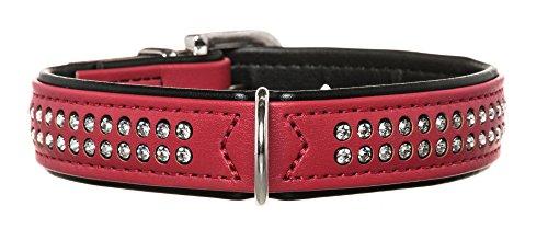 HUNTER Hundehalsband Modern Art Deluxe, 45, rot/schwarz, Kunstleder -