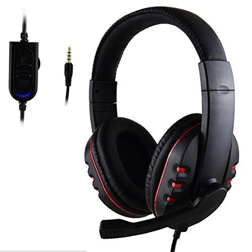 3,5 mm Gamer Over Ear Spiel Spiel Kopfhörer Kopfhörer Stirnband mit Mic Stereo Bass für PS4 (Tv Samsung Kopfhörer Für Smart)