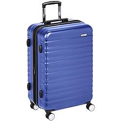 AmazonBasics Valise rigide à roulettes pivotantes de qualité supérieure avec serrure TSA intégrée - 68 cm, Bleu
