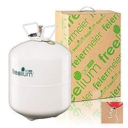 Freelium go 410 - Helium / Ballongas to Go Flasche mit satten 0,41 m³ / 420 Liter + 50x Ballonband