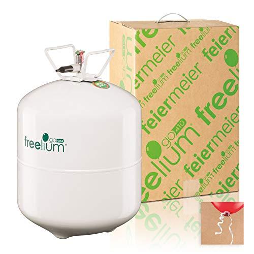 Freelium go 410 - Helium / Ballongas to Go Flasche mit satten 0,41 m³ / 420 Liter + 50x Ballonband (Luftballons Amazon Prime)